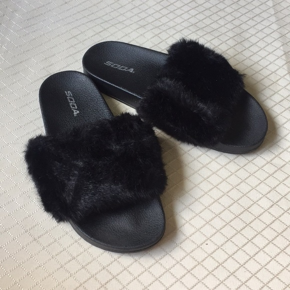 good looking on feet shots of outlet store sale Soda Shoes | Fur Sandals | Poshmark